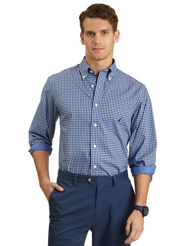 NAUTICAClassic Fit Plaid Sport Shirt