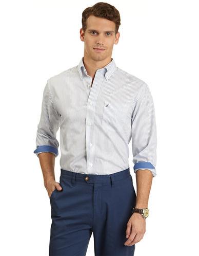 NAUTICAClassic Fit Stripe Sport Shirt