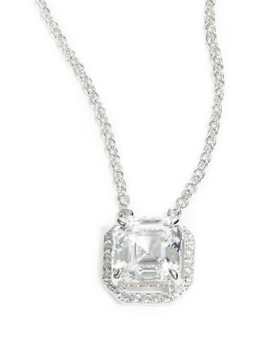 CRISLUCubic Zirconia and Sterling Silver Pave Pendant Necklace