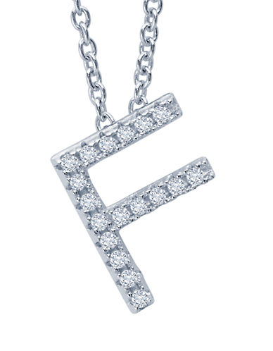CRISLUInitial 'F' Charm Necklace