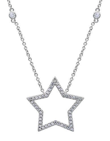 CRISLUPlatinum and Cubic Zirconia Star Pendant Necklace