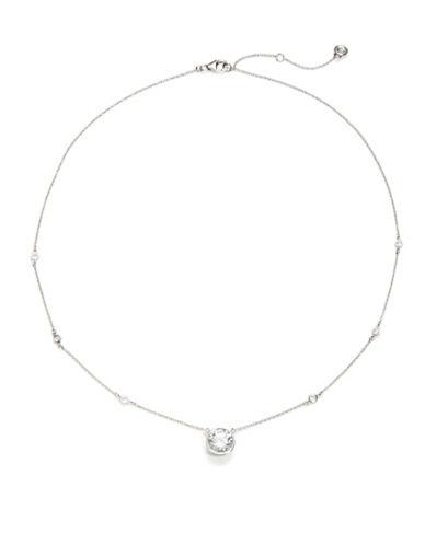 CRISLUCubic Zirconia and Sterling Silver Pendant Necklace