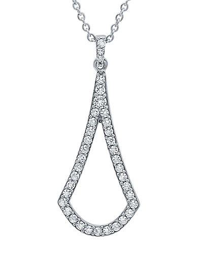 CRISLU Sterling Silver and Cubic Zirconia Geometric Pendant Necklace