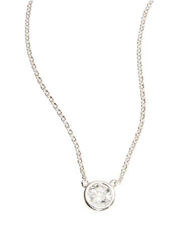 CRISLUCubic Zirconia and Sterling Silver Necklace