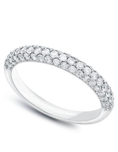 CRISLUThe Pave Platinum and Cubic Zirconia Ring