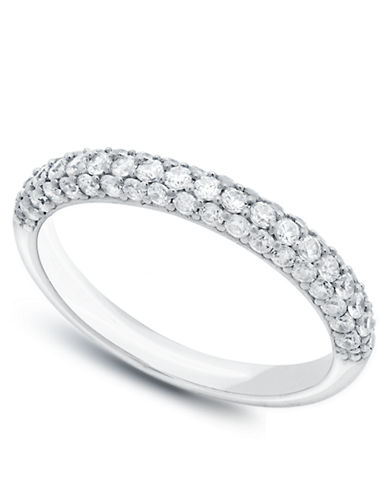 CRISLU The Pave Platinum and Cubic Zirconia Ring