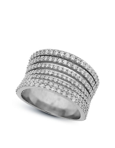CRISLU Cubic Zirconia Multi Row Ring