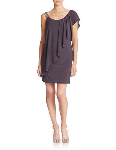 BETSY & ADAMOne-Shoulder Dress