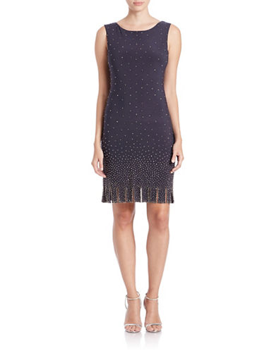 Beaded Fringe Hem Dress $181.30 AT vintagedancer.com
