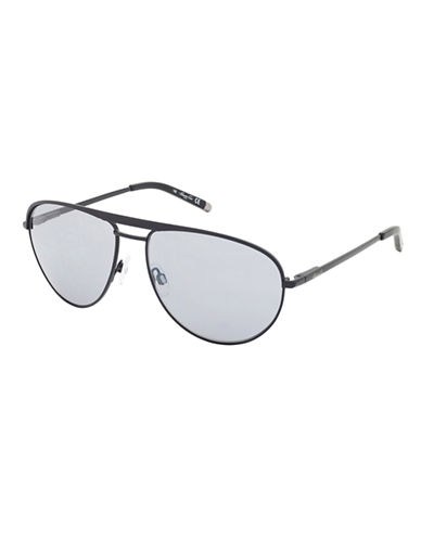 KENNETH COLE NEW YORKMatte Tipped Aviator Sunglasses