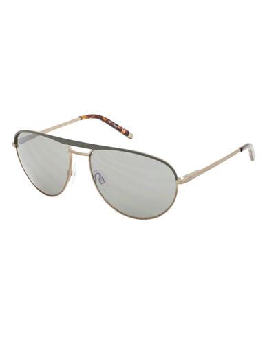 KENNETH COLE NEW YORKBrushed Aviator Sunglasses