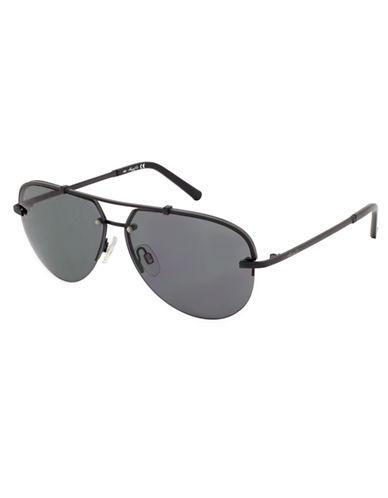 KENNETH COLE NEW YORKMatte Aviator Sunglasses