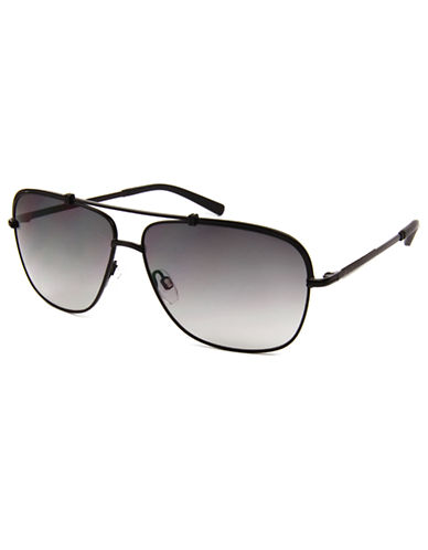 KENNETH COLE NEW YORK Satin Tipped Navigator Sunglasses