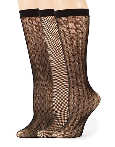 ELLEN TRACYThree Pack Fishnet Trouser Socks