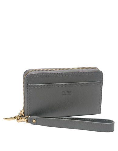 TUSK Madison Leather Smartphone Wristlet