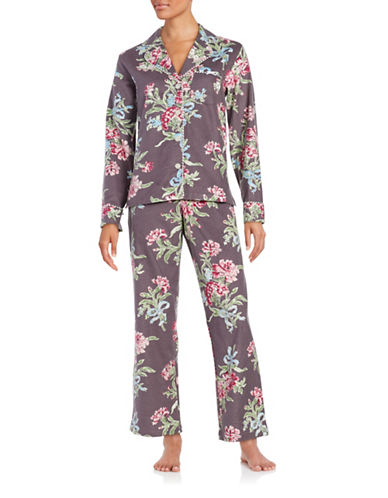 Floral Flannel Pajama Set | Lord & Taylor