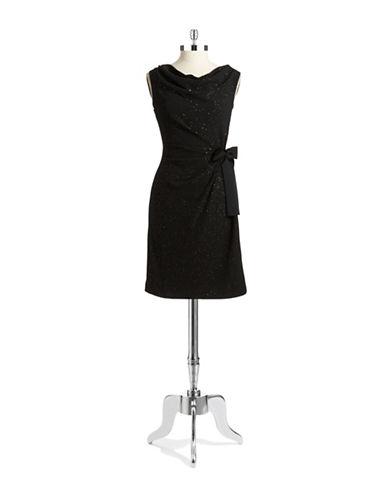 Shop Taylor online and buy Taylor Metallic Cowl Neck Shift Dress dress online