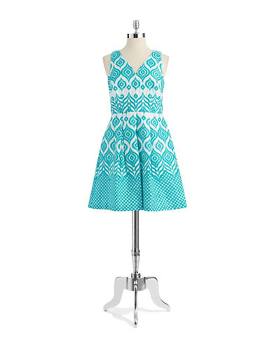 TAYLORPatterned Fit and Flare Dress