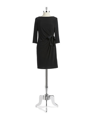 TAYLORBow Accented Sheath Dress