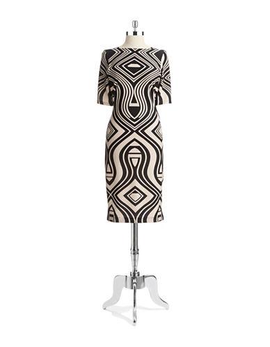 Shop Gabby Skye online and buy Gabby Skye Geo Print Shift Dress dress online