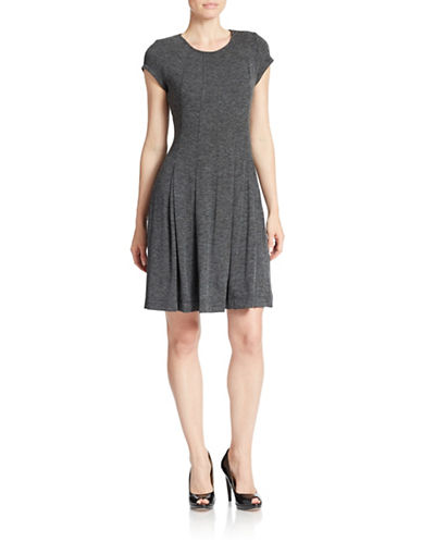 GABBY SKYEShort Sleeve Fit-and-Flare Dress