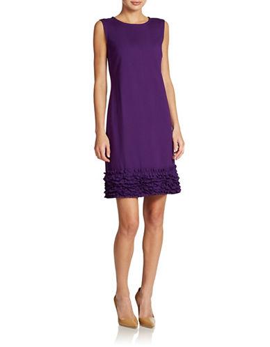 Shop Taylor online and buy Taylor Plus Ruffled Hem Ponte Shift dress online