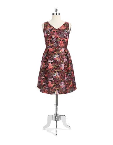 TAYLORPlus Shimmering Floral Dress