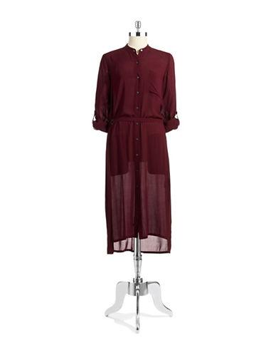DKNY PURESemi Sheer Shirt Dress