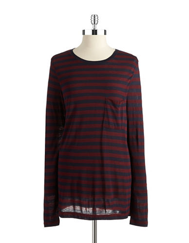 DKNY Extra Long Striped Tee