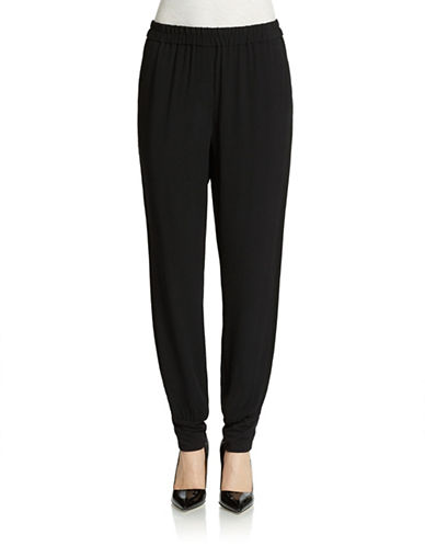 DKNY PURE Cuffed Crepe Pull-On Pants