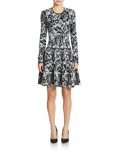 DKNYLace-Pattern Knit Dress