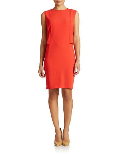 Shop Dkny online and buy Dkny Mesh Insert Crepe Shift Dress dress online