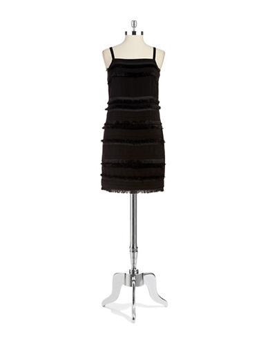 Upc 755405000277 Dknyc Fringe Sheath Dress Upcitemdb