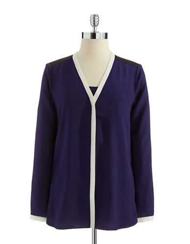 DKNYC V-neck Blouse