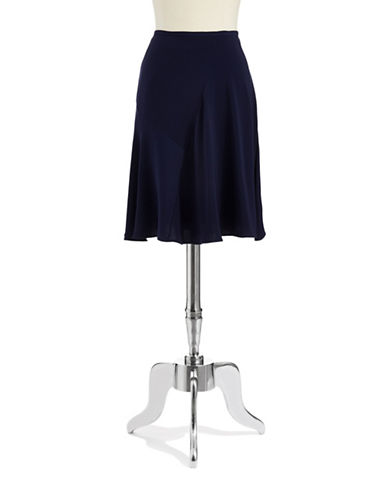 DKNYCSeam Accented Skater Skirt