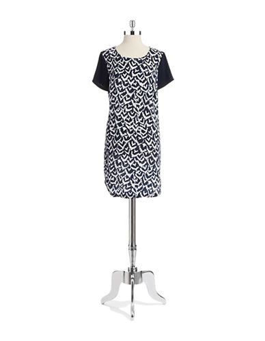 Shop Dknyc online and buy Dknyc Patterned Tunic Dress dress online