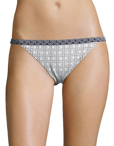 michael kors female patterned bikini swim bottom
