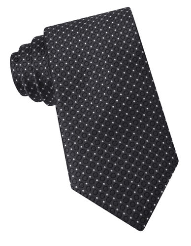 michael kors male 217293 fancy neat dot textured silk tie
