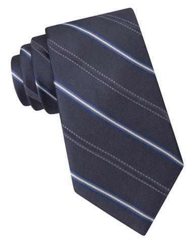 michael kors male straton striped silk tie