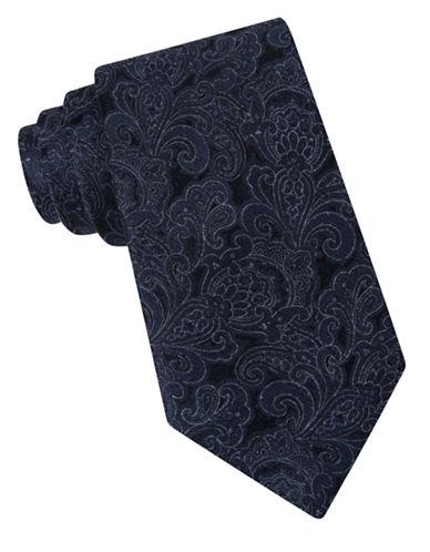 michael kors male 217293 florence paisley silk blend tie