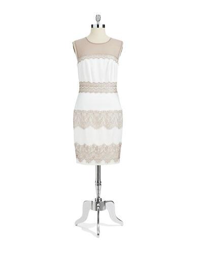JAX STUDIOLace Accented Illusion Dress
