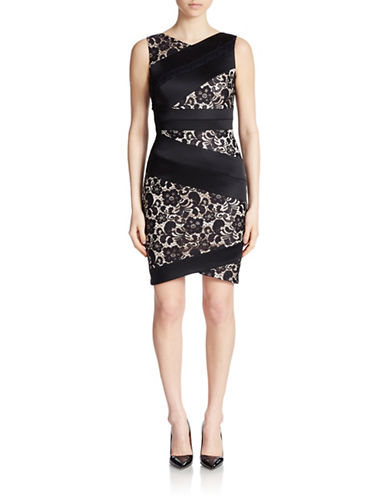 black lace sheath dress lord taylor