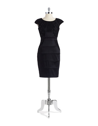 JAX STUDIOSequin Lace Dress