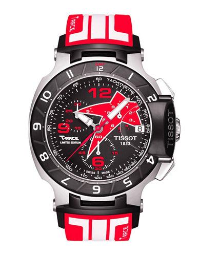 TISSOTMen's T-Race Black Quartz Chronograph Rubber Strap Watch