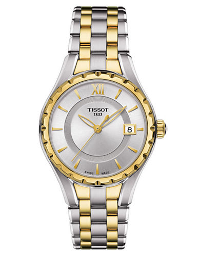 TISSOTLadies T-Lady Quartz Watch with Two-Tone Bracelet