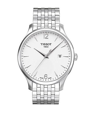 TISSOTMens Tradition Quartz Stainless Steel Watch