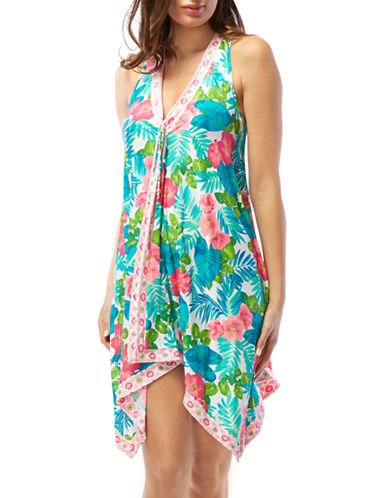 Shop Coco Reef online and buy Coco Reef Floral Scarf Cover-Up Dress dress online