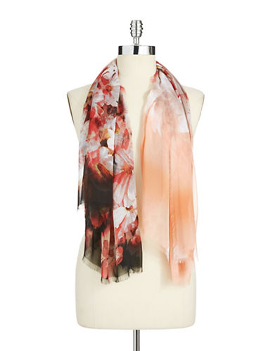 ACCESSORY STREET Animal and Floral Print Scarf