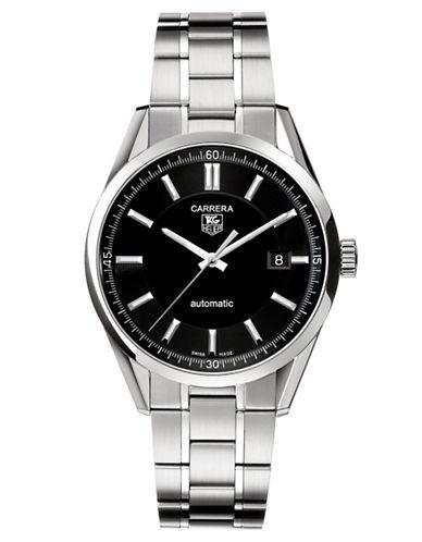 TAG HEUERMens Carrera Stainless Steel Black Dial Watch