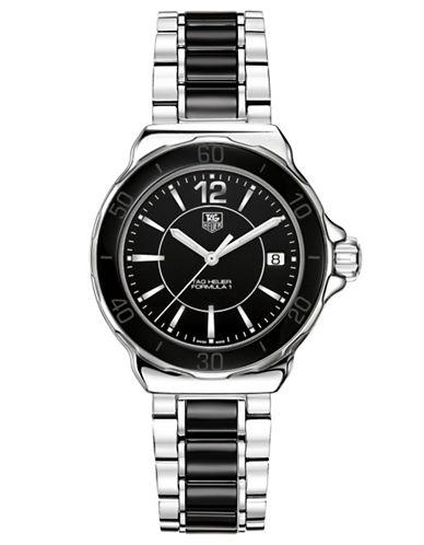 TAG HEUERLadies Formula 1 Stainless Steel Black Dial Watch